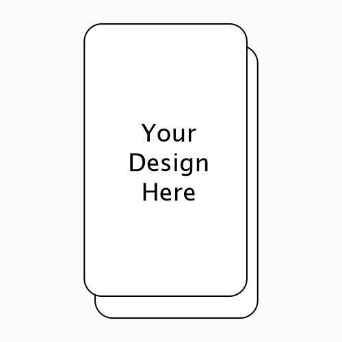 Rounded Corners Vertical Business Card